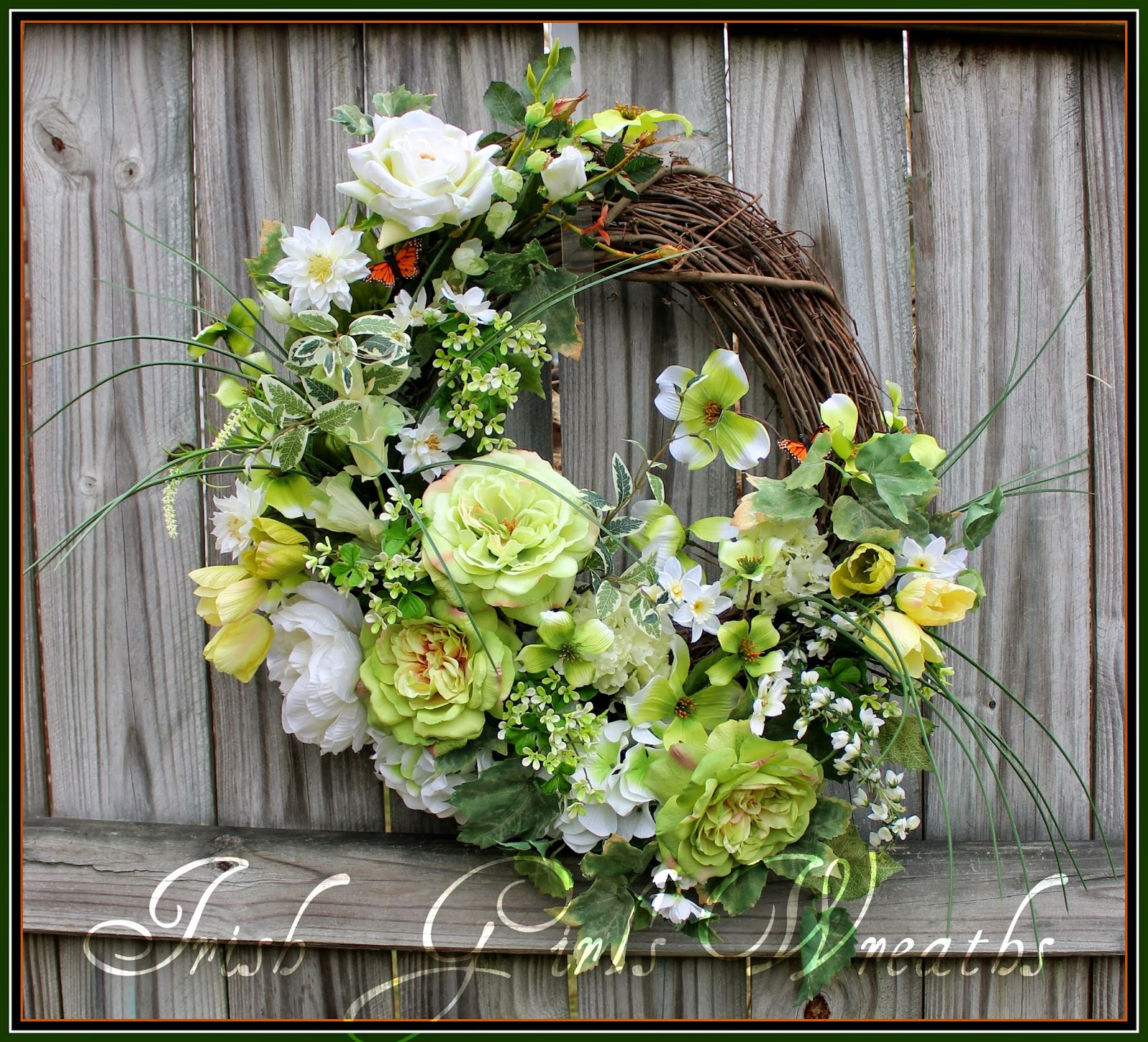 Irish Girl S Wreaths Top Quality Handmade Artisan Floral Wreaths
