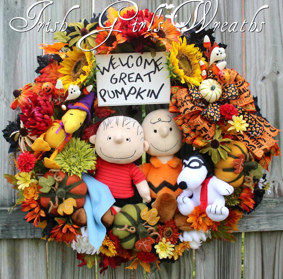 Peanuts Great Pumpkin Halloween Wreath