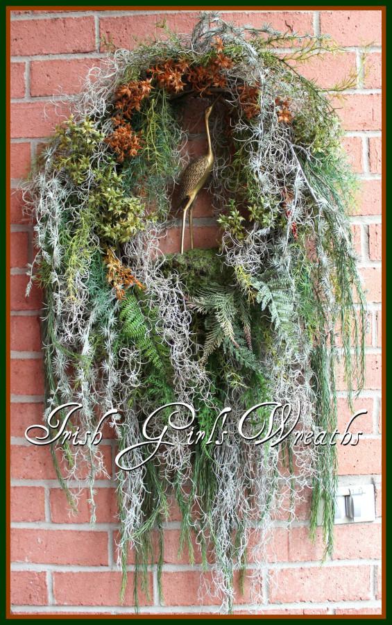 Deluxe Bayou Heron Wreath- **SOLD** $289.99