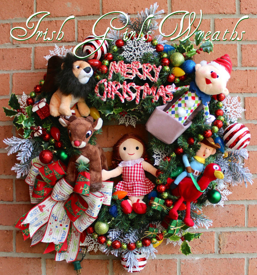 Deluxe Island of Misfit Toys Wreath