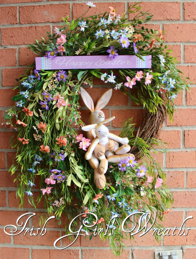 Guess How Much I Love You Bunnies Easter Wreath