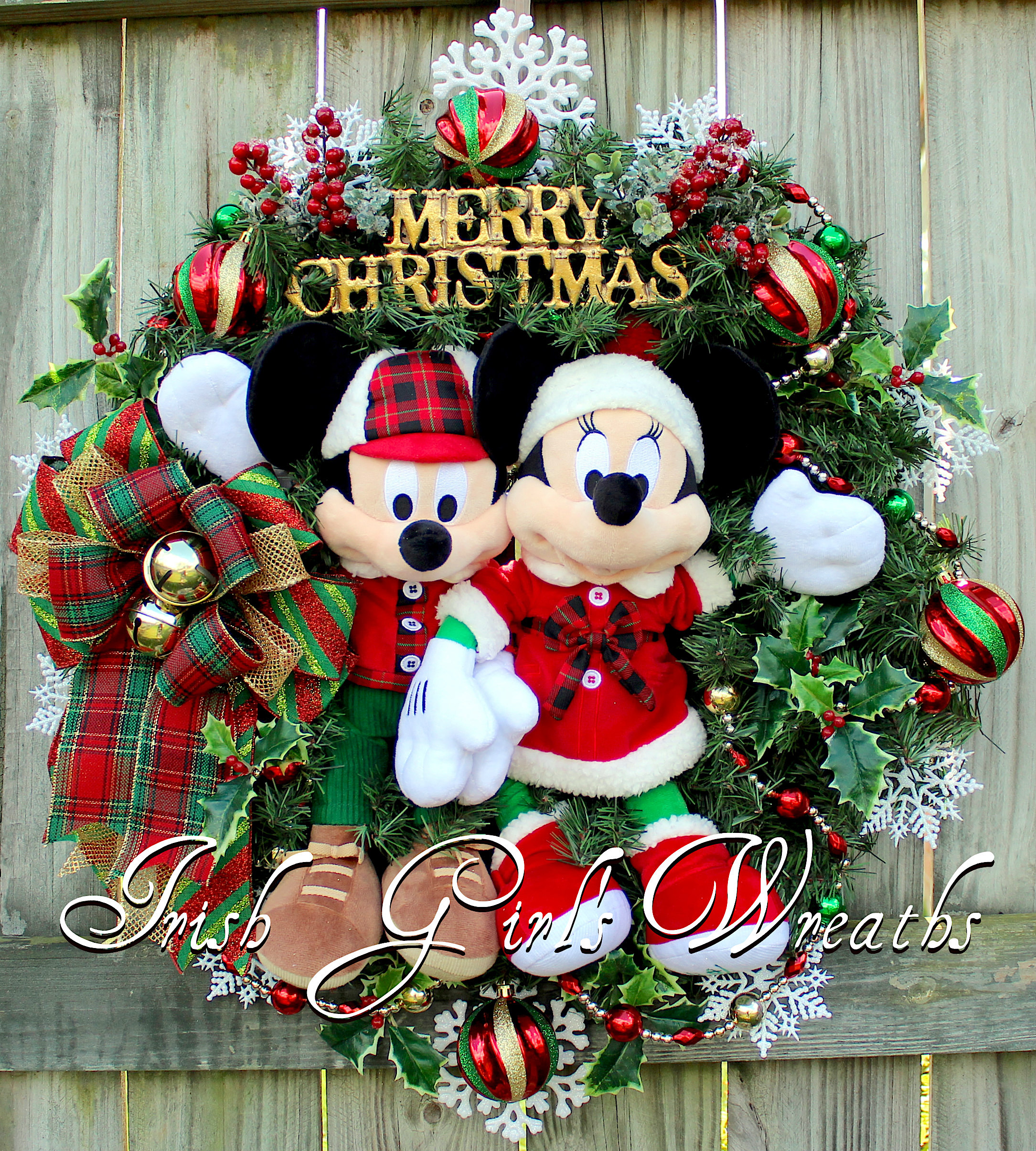 mickey and minnie mouse merry christmas - Mickey And Minnie Christmas Decorations