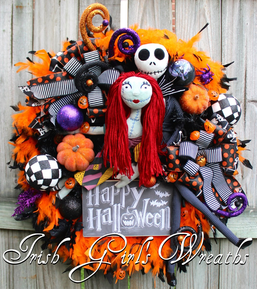 Irish girl 39 s wreaths where the difference is in the - Jack skellington decorations halloween ...