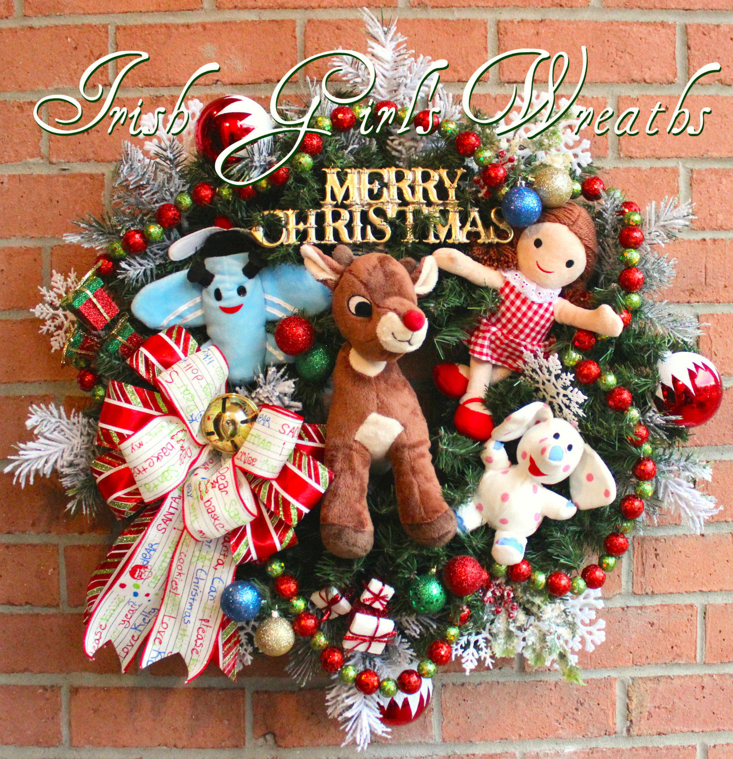rudolph and misfit toys christmas wreath - Rudolph And Friends Christmas Decorations