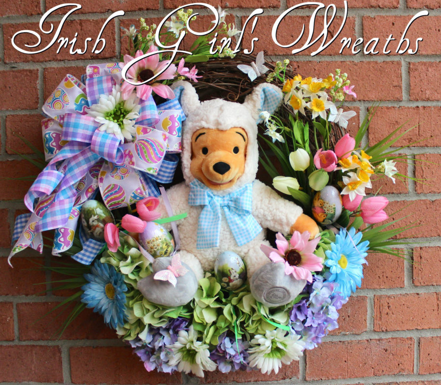 Lamb Winnie the Pooh Easter Wreath