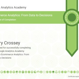 Google Ecommerce Analytics Certification
