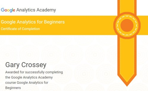 Google Analytics Basic Award Asheville