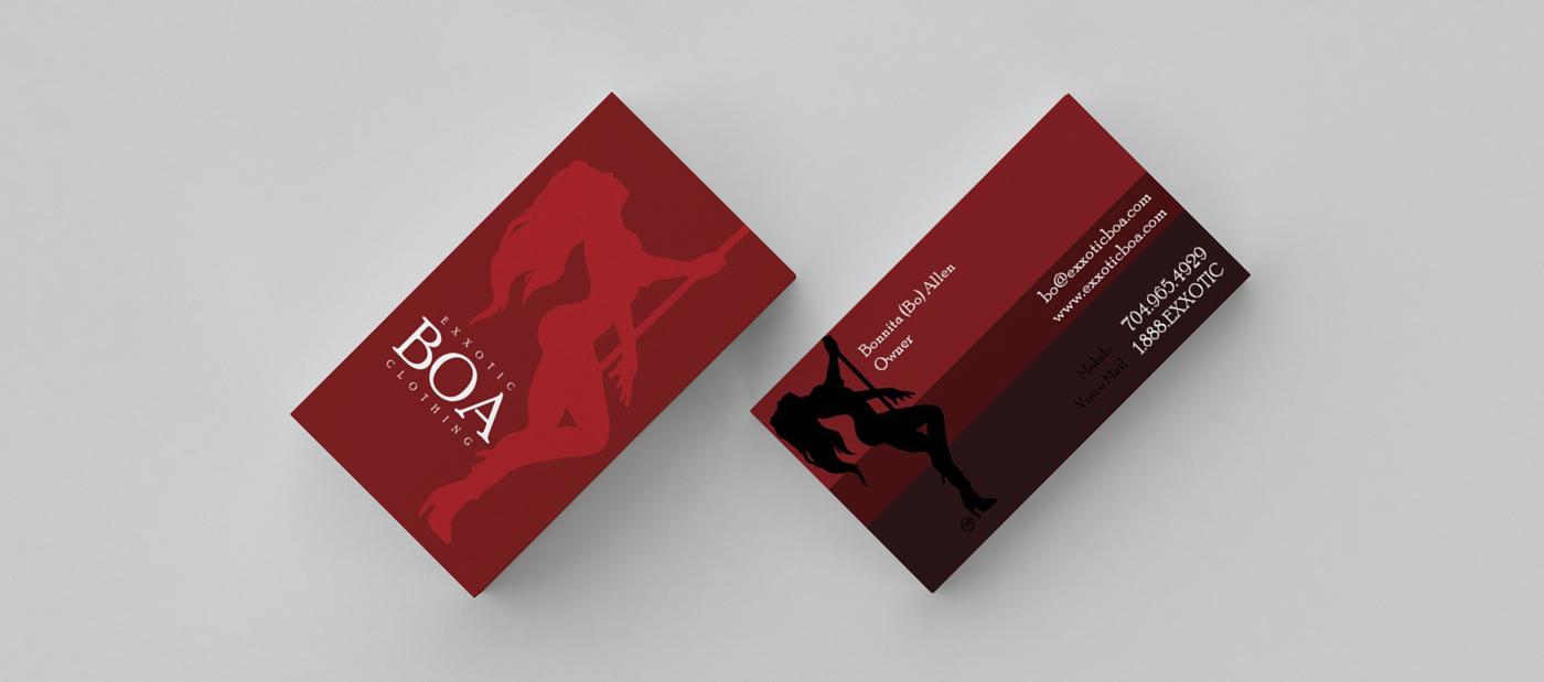 BUSINESS CARD Exxotic Boa