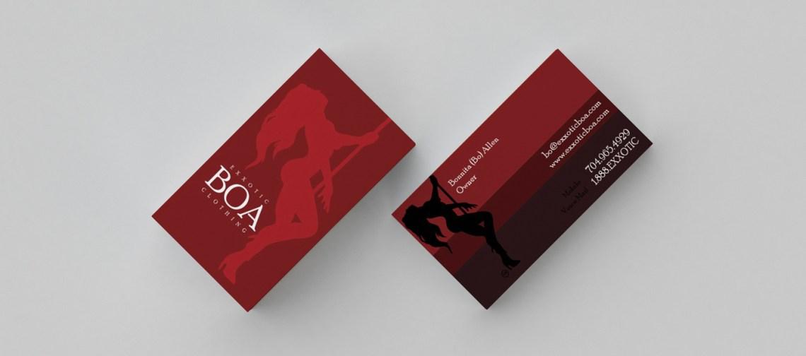 BUSINESS CARD Exxotic Boa - IRISHGUY Design Studio