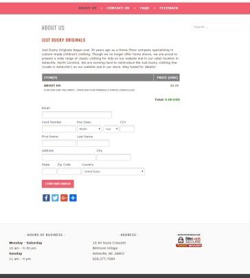 Asheville Just Ducky - Basic WordPress Website