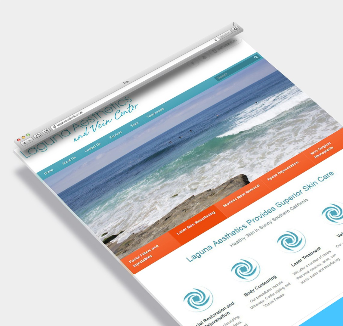 Web Design Sample for Skin Card