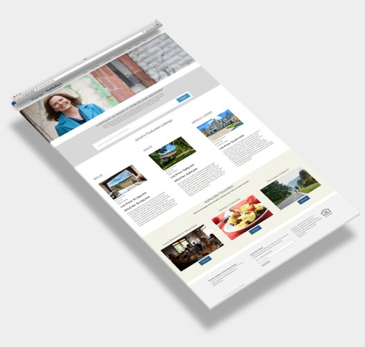 Web Design Sample Asheville Realtor