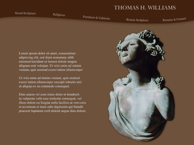 WEBSITE DESIGN Sculptor