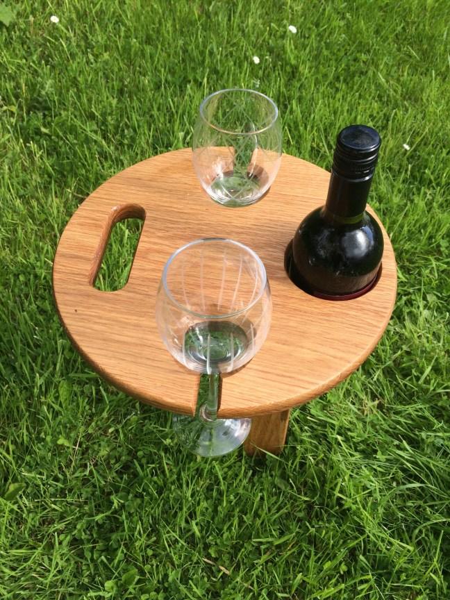 Folding Wine Table  irish Oak  Rope