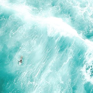 A surfer on waves