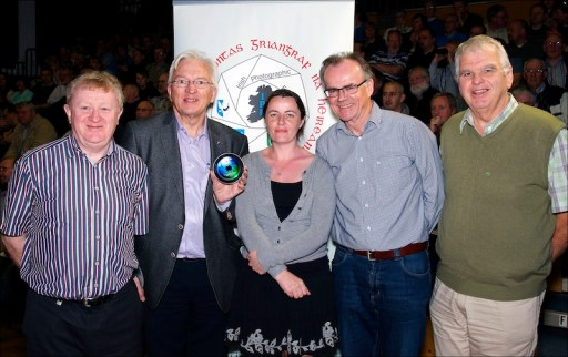John Cuddihy IPF President pictured at the launch of IPF DVD (Images of Distinction, Volume 1) with the team involved in the project; Bob Morrison, Niamh Whitty, Brian Deering & John Doheny (Pat Heavin missing from image)