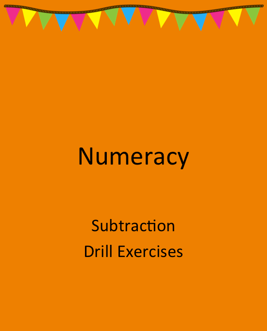 SUBTRACT DRILL