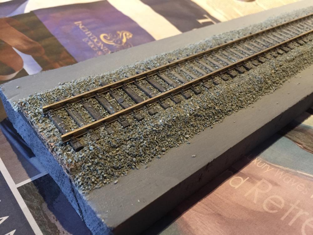 Track bed + ballast experiments - Tips & Tricks - Irish Railway Modeller