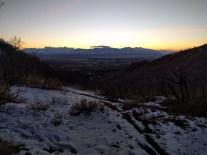 Sunset hike above SLC.