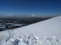 Looking over SLC and the Oquirrih mountains on a trail run/hike.