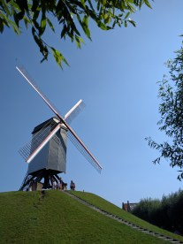 Windmills by the outer canals.