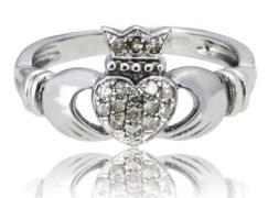 diamond claddagh ring by the irish jewelry company