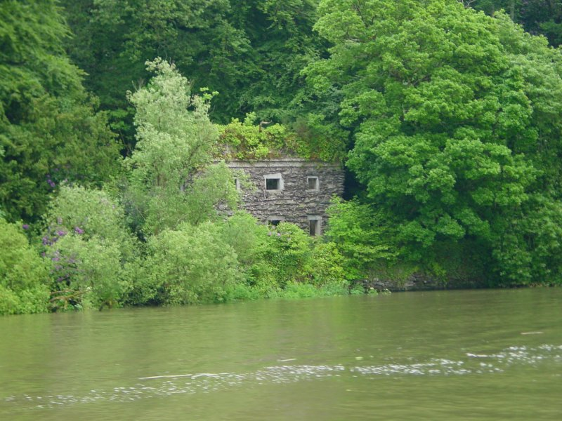 An unidentified stone building on the east bank below Dromana