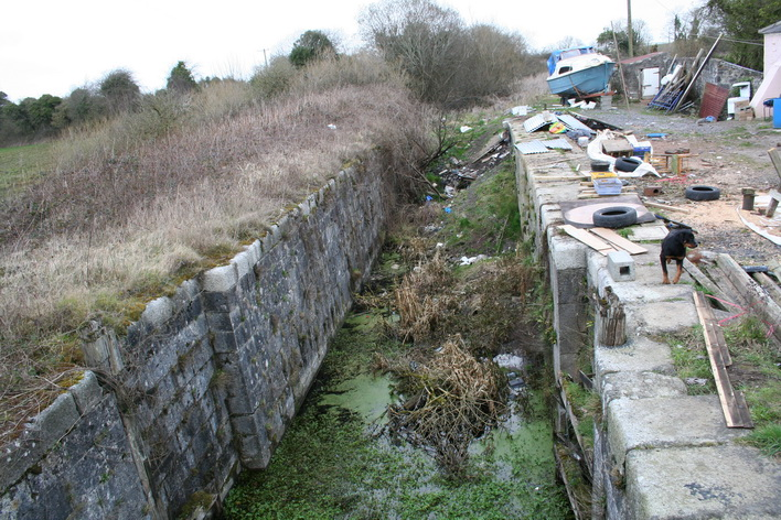 The first lock on the Mountmellick Line