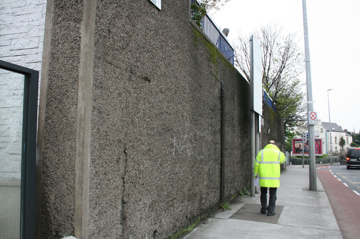 Street-level view of western abutment (from south)
