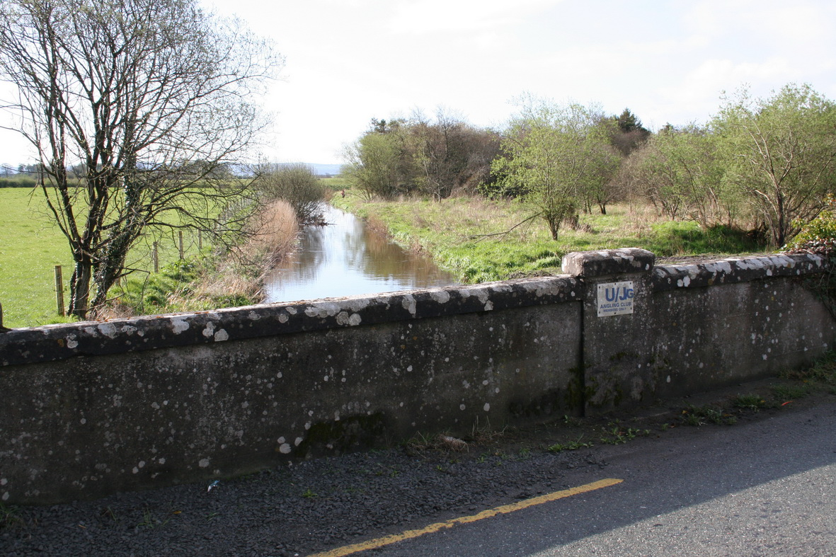The River Goul north of the road