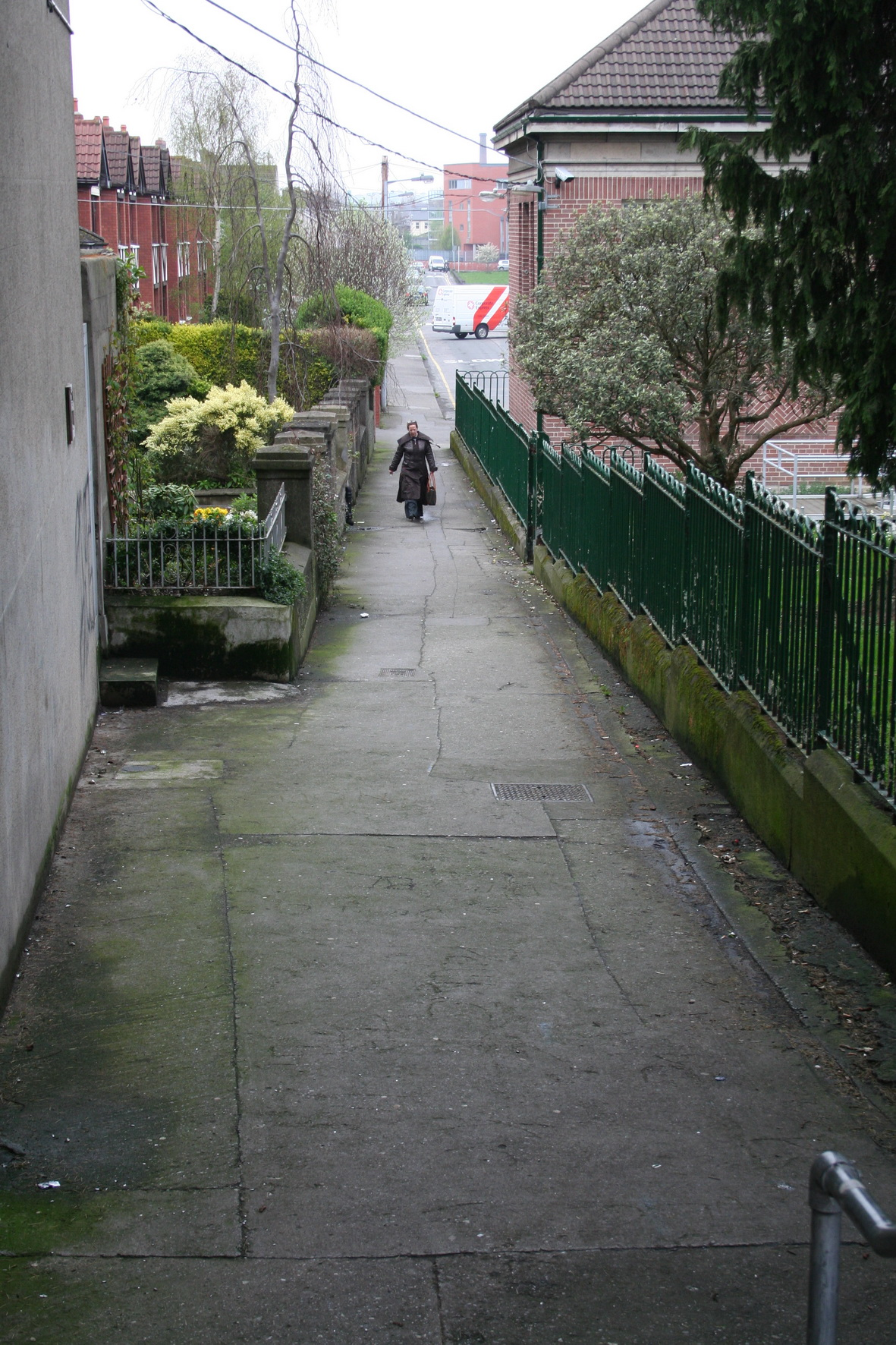 Looking north up the lane 2