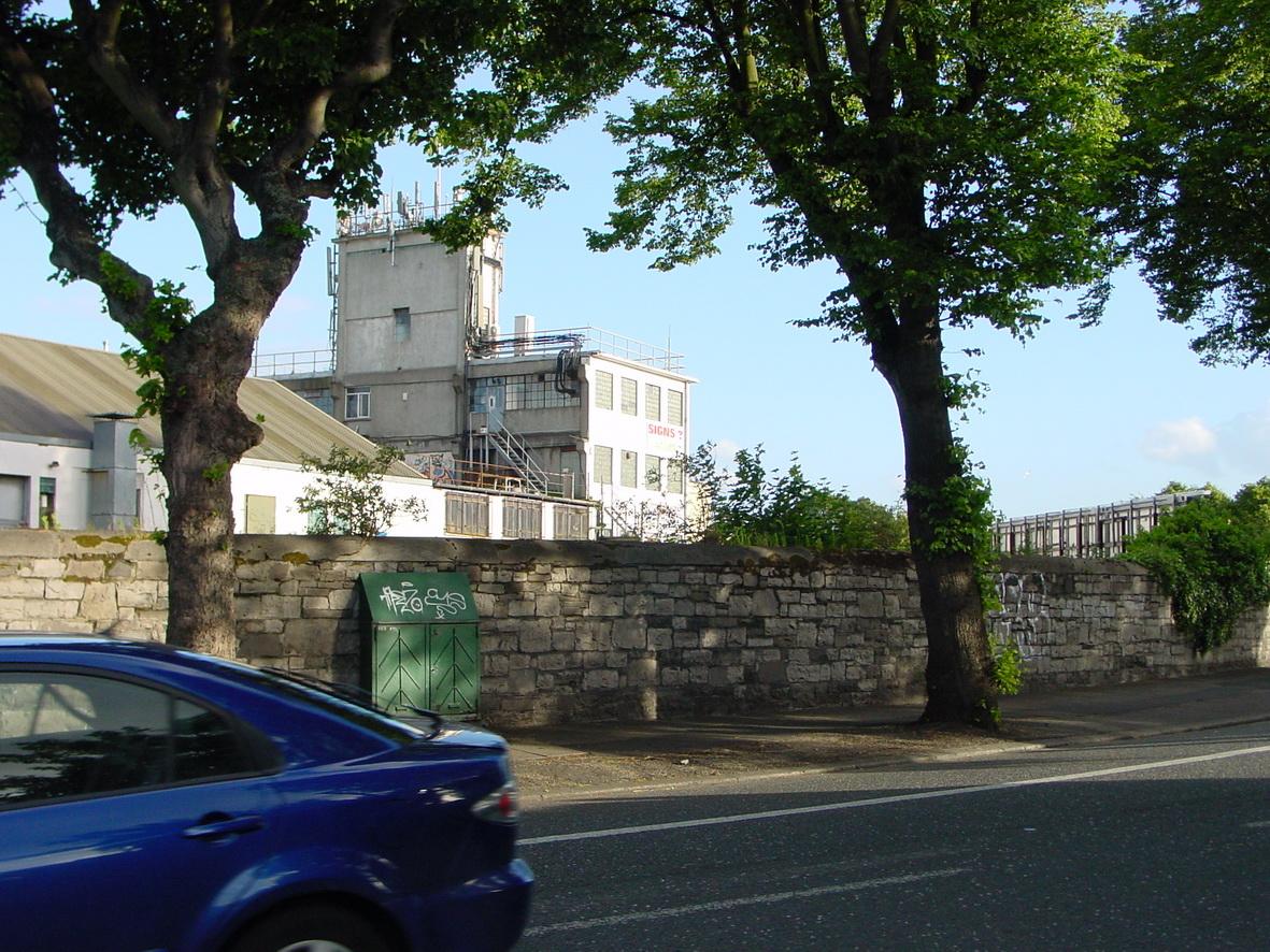 Landmark building on the far side of Western Way