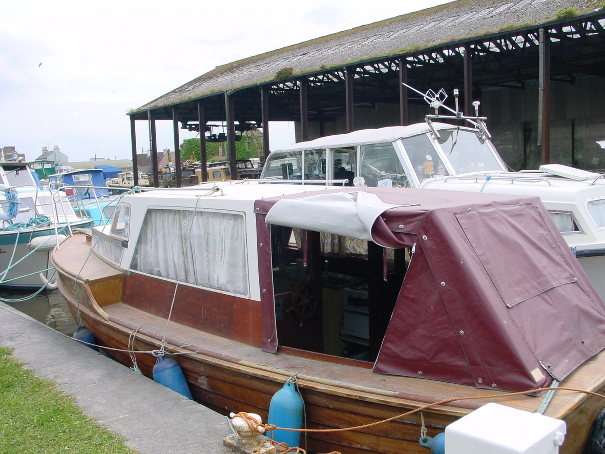 Wooden boat at Shannon Harbour