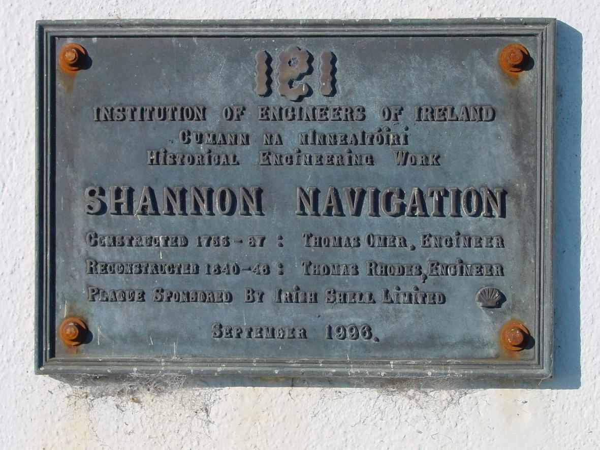 Plaque at Athlone Lock