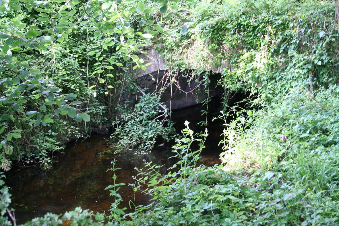 Downstream side of the bridge