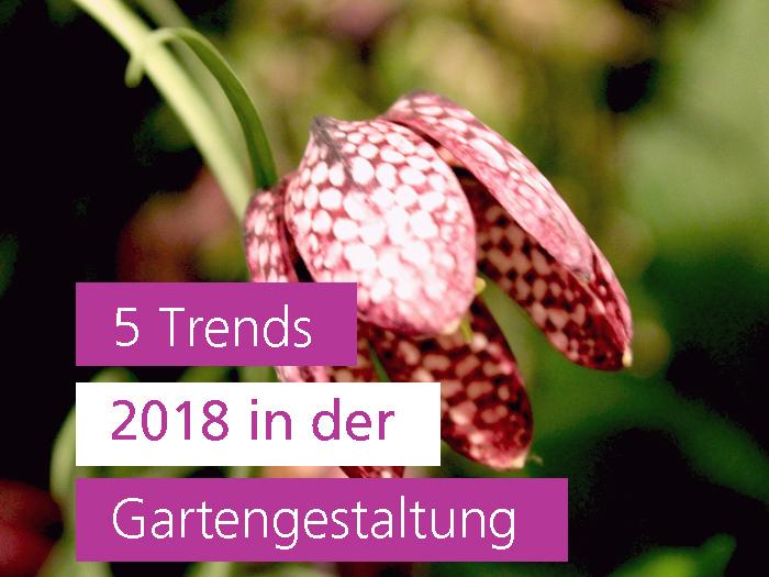 5 Gartentrends 2018 in der Gartengestaltung