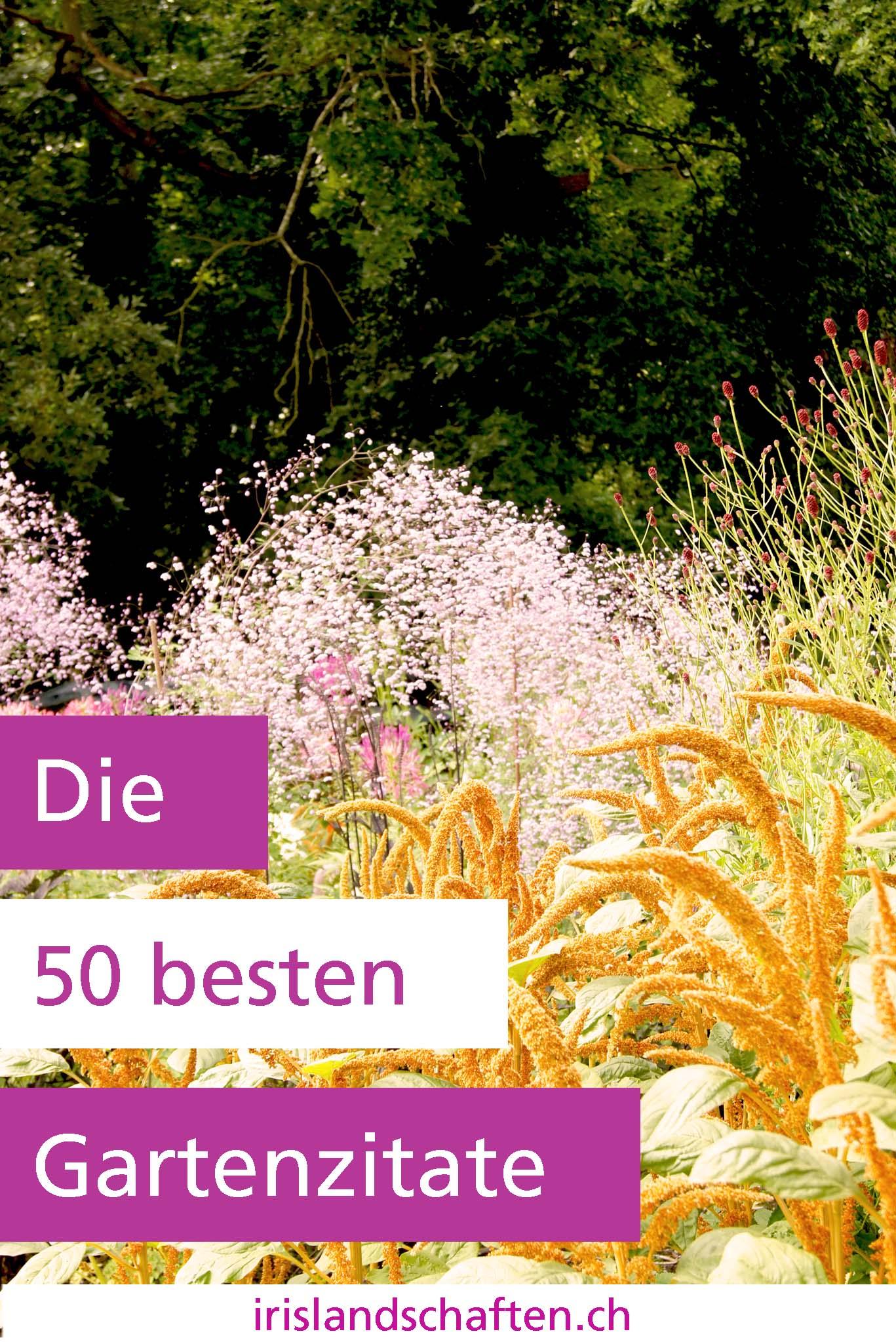 Gartenzitate Gartengestaltung