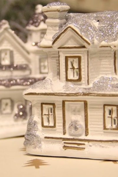 Pottery Barn Inspired Christmas Village