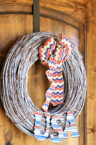Craft: Rustic 4th of July Wreath