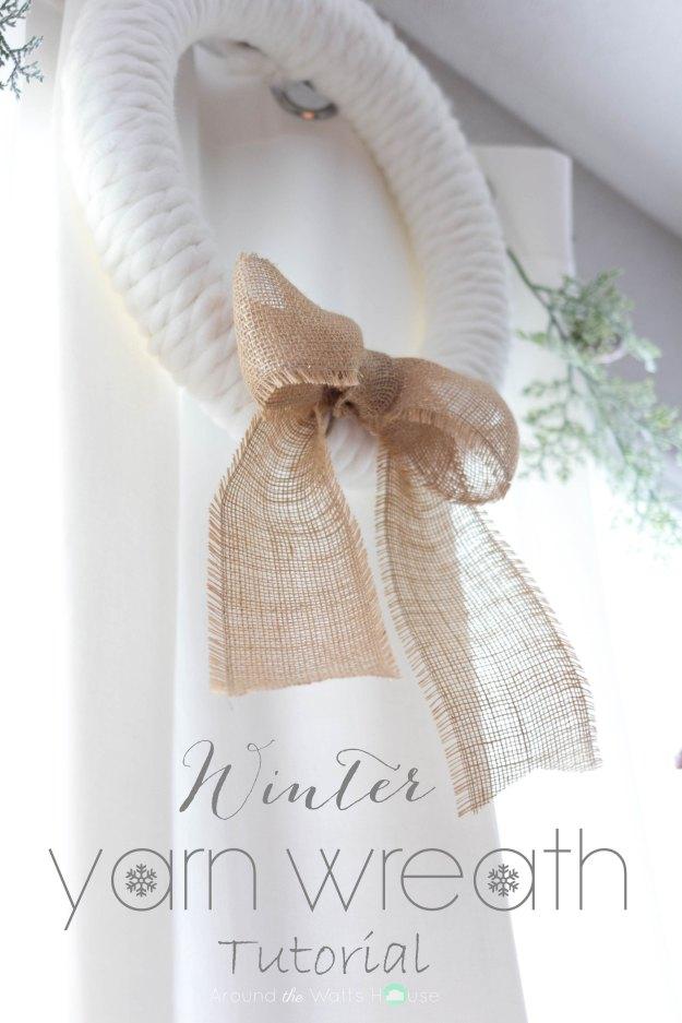 Winter Yarn Wreath Tutorial