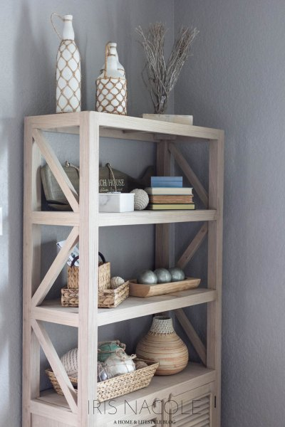 Shop the House (Coastal Bookcase Decor)