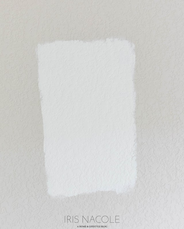 Benjamin Moore Simply White Wall Paint Test-1
