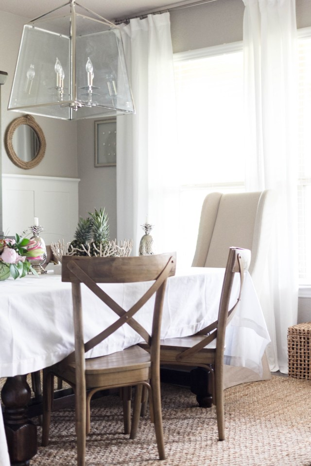 French Bistro Chairs in Dining Room