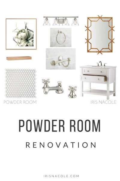 IrisNacole.com Powder Room Renovation