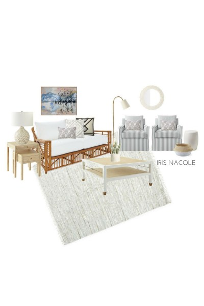 Sitting Room Mood Board with Serena & Lily Favorites