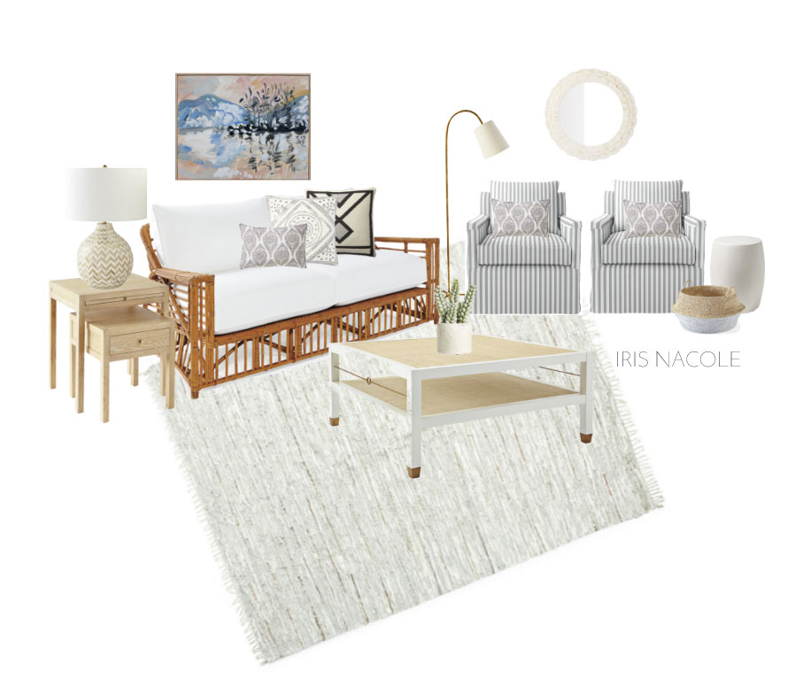 Serena& Lily Sitting Room Mood Board design by IrisNacole