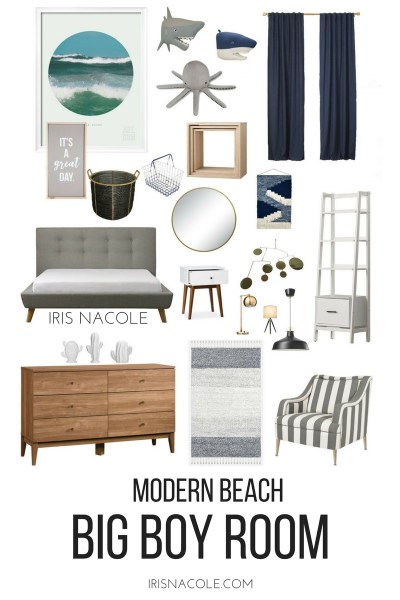 "Modern Beach ""Big Boy"" Bedroom Makeover"