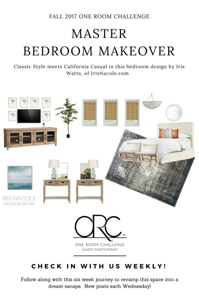 Classic meets California Casual-Master Bedroom Makeover (Week 2)