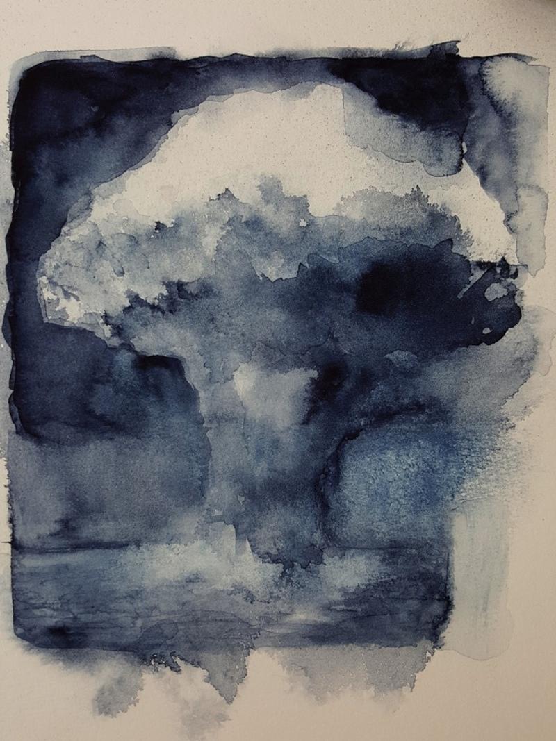 Iris Nölle-Wehn Atompilz Aquarell Mushroom Cloud
