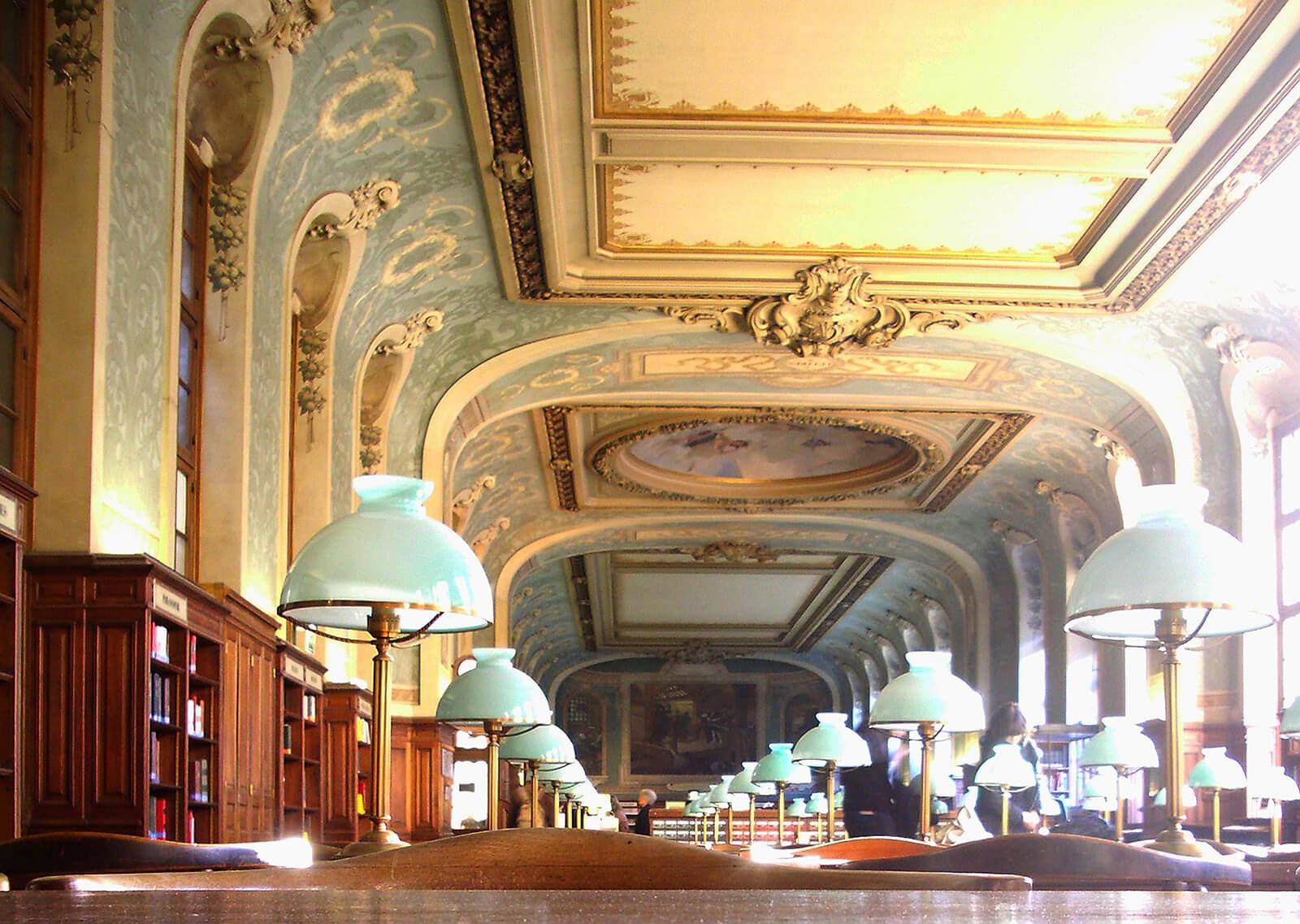 La Sorbonne Reading Room, Paris, France